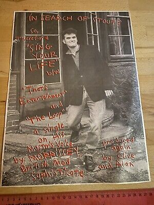 MORRISSEY Sing Your Life ORIGINAL 1991 NME FULL PAGE PROMO ADVERT THE SMITHS • 4.95£