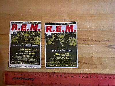 REM Monster Tour 2 1995 NME SMALL GIG GUIDE ADVERTS W/ CRANBERRIES Etc • 3.50£