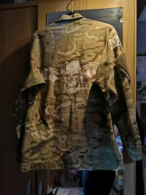 Limited Edition Avenged Sevenfold A7X, Hand Printed Camouflage Army Coat.  • 25£