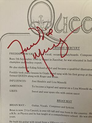 Queen Freddie Mercury Signed Piano Music  • 87£
