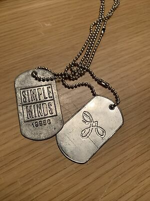 Simple Minds Rare Good News From World Promo Dog Tags 1995 • 8.99£