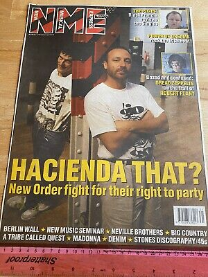 NEW ORDER At HACIENDA 1990 NME COLOUR COVER ~READY FOR FRAMING + 2 PAGE FEATURE • 9.95£