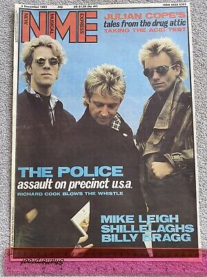 The Police 1983 Nme Iconic Original Full Colour Cover ~ready For Framing  • 9.95£