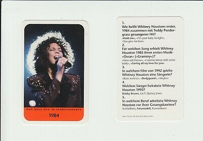Music : Whitney Houston : Interesting German Collector Game Card • 1.20£