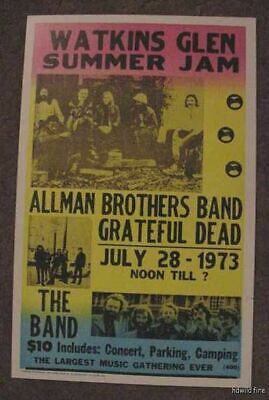 THE ALLMAN BROTHERS BAND GRATEFUL DEAD 70's POSTER Art 1973 Gregg JERRY GARCIA • 92.60£
