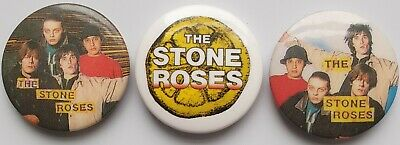 The Stone Roses Vintage Original Button Badges Psych Manchester Inde Rock Pins  • 6.99£