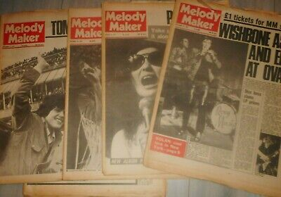 Lot Of 7 Melody Maker Papers 1972 , Roxy Music, The Who , Yoko Ono ,alice ,slade • 26.99£