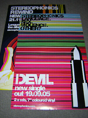 2 Original Stereophonics Promotional Singles Posters • 7.95£