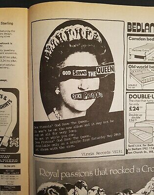 Sex Pistols 'God Save The Queen' Advert - Private Eye Magazine 1977 • 14.95£