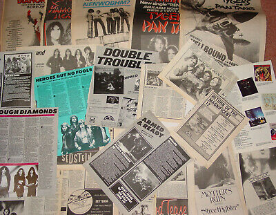 Large Collection Of NWOBHM Cuttings, Reviews And Adverts From Sounds And Kerrang • 4.99£
