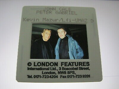 PETER GABRIEL AND JOHN CALE 35mm Promo Press Photo Slide #10611 • 4.99£