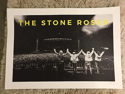The Stone Roses - Official Manchester Ethiad Lithograph, 45/50 • 139.99£