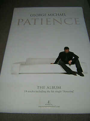 Original Very Large George Michael Promotional Poster - Patience • 19.95£