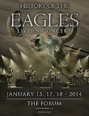 Eagles  History Of The Eagles 2014 Tour At The Forum Los Angeles Concert Poster  • 18.45£