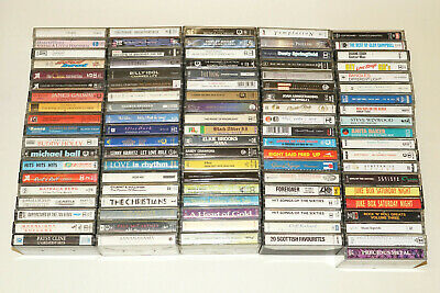 Cassettes Job Lot 96 X Tapes, Not Tested, Bundle, Various Mix Mostly 80s Music • 49£