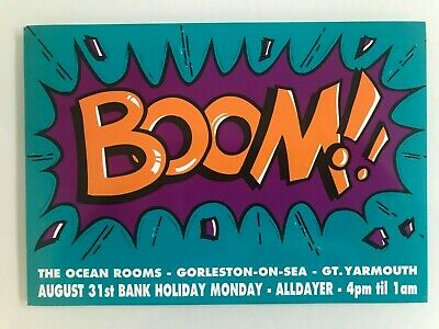 Boom Ocean Rooms Gt Yarmouth Aug 1992 Rave Flyer Flyers • 3£