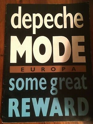 DEPECHE MODE Some Great Reward Tour Concert Programme 1984 With Ticket. Europa • 45£
