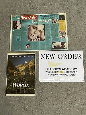 NEW ORDER World 1993 M.M. A3 PROMO ADVERT + 2 PAGE FEATURE + 2006 A3 GIG POSTER • 6£