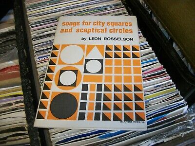 Leon Rosselson 1966 Songs For City Squares And Sceptical Circles Book Folk RARE • 9.99£