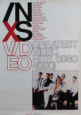 INXS 1990 Greatest Video Hits 1980-1990 Original Promo Poster • 17.87£