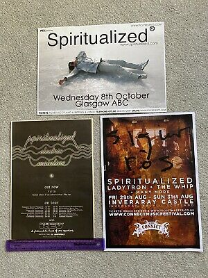 SPIRITUALIZED Electric Mainline + Tour Dates NME 1993 ADVERT + 2008 GIG POSTERS • 6£