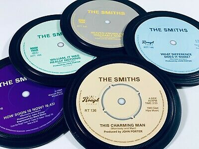 THE SMITHS. 5 Coasters In A Tin. Morrissey. Rough Trade. Popsters. • 20£