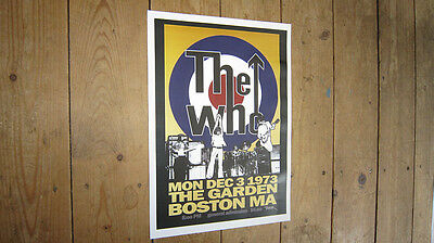 The Who Boston Garden Repro Tour POSTER • 5.99£