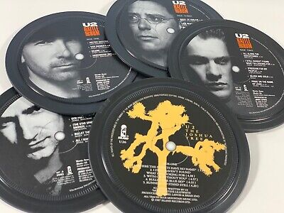 U2, 5 Coasters In A Tin. Popsters. Joshua Tree, Rattle And Hum • 20£