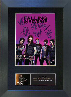 FALLING IN REVERSE Signed Mounted Reproduction Autograph Photo Prints A4 571 • 5.99£