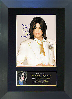 MICHAEL JACKSON Signed Mounted Reproduction Autograph Photo Prints A4 68 • 19.99£