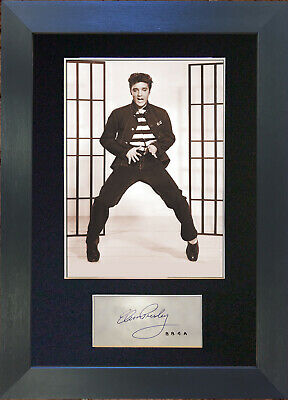 ELVIS PRESLEY Signed Mounted Reproduction Autograph Photo Print 409 • 17.99£