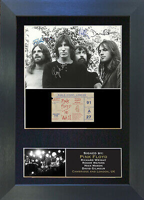 PINK FLOYD No1 Signed Mounted Reproduction Autograph Photo Prints A4 193 • 17.99£