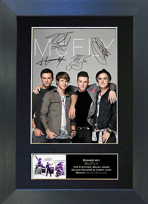 MCFLY Signed Mounted Reproduction Autograph Photo Prints A4 303 • 5.99£