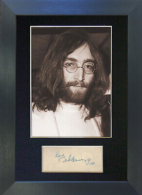 JOHN LENNON Signed Mounted Reproduction Autograph Photo Prints A4 254 • 19.99£