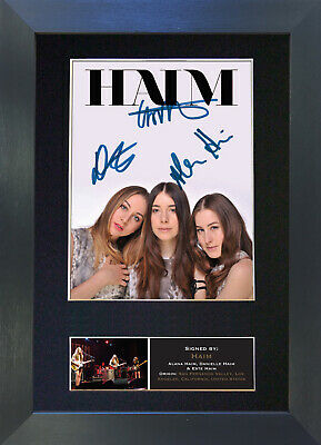 HAIM Signed Mounted Reproduction Autograph Photo Prints A4 453 • 5.99£