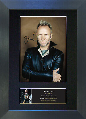 STING Signed Mounted Reproduction Autograph Photo Prints A4 72 • 19.99£