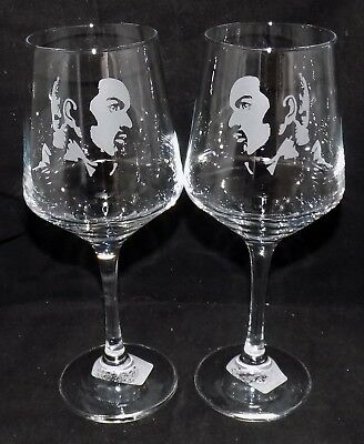 New Etched  GEORGE MICHAEL  Wine Glass(es) - Free Gift Box - Large 390mls Glass  • 19.99£