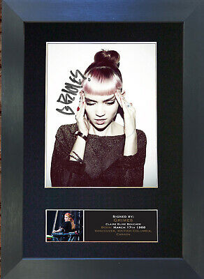 GRIMES Mounted Signed Photo Reproduction Autograph Print A4 642 • 19.99£