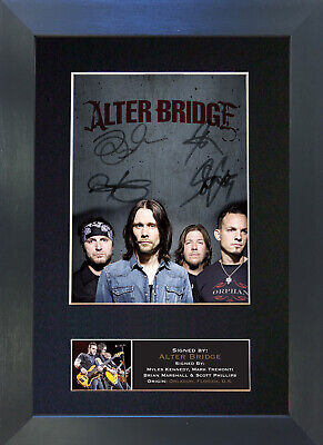 ALTER BRIDGE Mounted Signed Photo Reproduction Autograph Print A4 645 • 19.99£