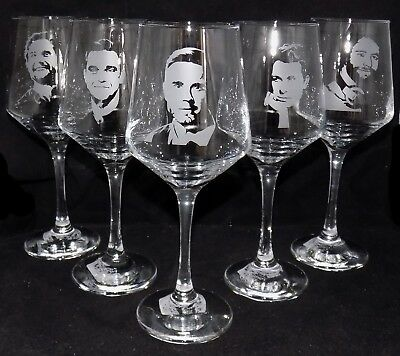 New 'TAKE THAT' Hand Etched Large Wine Glass - Choose A Single Or Whole Band! • 44.99£