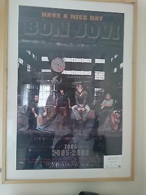 Bon Jovi Certified Signed Poster 22 Out 250 Worldwide • 420£