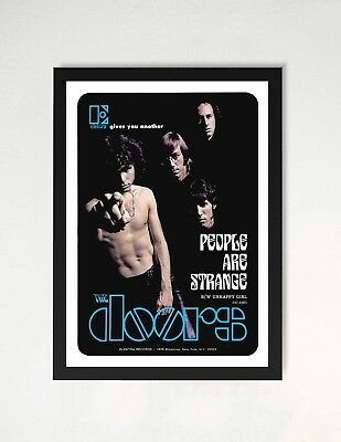Framed The Doors People Are Strange Promo Poster A4 Size In Black / White Frame • 9.99£