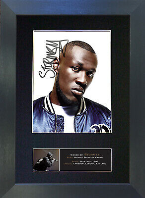 STORMZY Signed Mounted Reproduction Autograph Photo Prints A4 692 • 5.99£
