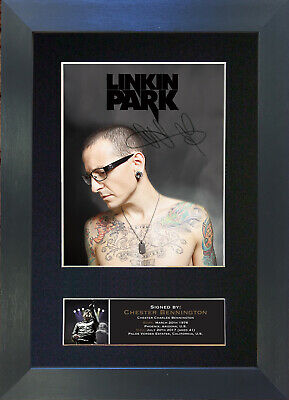 CHESTER BENNINGTON Signed Mounted Reproduction Autograph Photo Print A4 711 • 19.99£