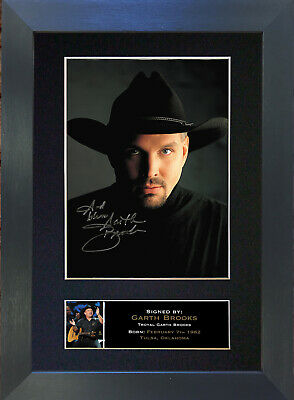 GARTH BROOKS Signed Mounted Reproduction Autograph Photo Prints A4 332 • 19.99£