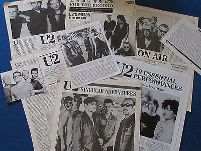 Joblot Of Articles & Cuttings - U2 • 9.99£