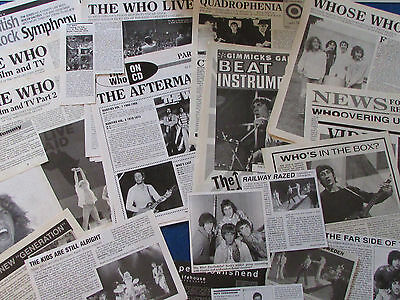 Joblot Of Articles & Cuttings - The Who • 14.99£