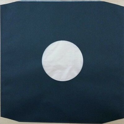 50 X High Density BLACK 12  Poly Lined Inner Record Sleeves 110 Gr : Anti-Static • 13.89£