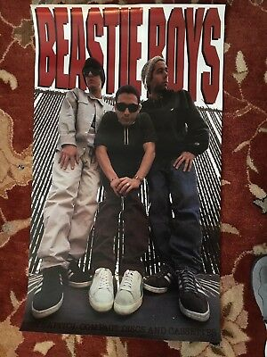 THE BEASTIE BOYS On Capitol Records  Original Promotional Poster From 1992 • 19.30£