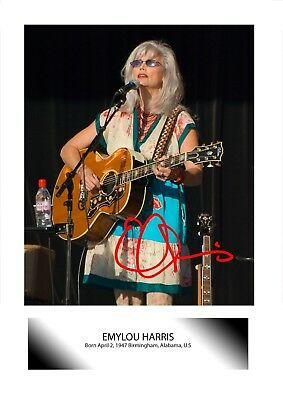 Emylou Harris (3) A4 Signed Mounted Photograph Picture Poster. Choice Of Frame. • 26.99£